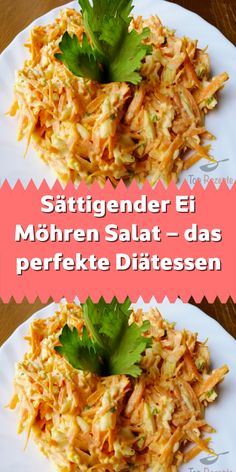 Sättigender Ei Möhren Salat – das perfekte Diätessen If you are also a salad fan then you have to try this salad. It tastes slightly of garlic, contains egg and is mainly made from carrots. Chicken Salad Recipes, Healthy Salad Recipes, Lunch Recipes, Diet Recipes, Healthy Lunches, Clean Eating Soup, Clean Eating Recipes, Big Mc, Carrot Salad