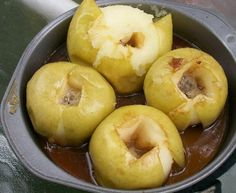 Cast Iron Dutch Oven Baked Caramel Apples + tons more fab cast iron recipes. I pinned cast iron tips on my Great Ideas board. Recipes With Fruit And Vegetables, Fruit Recipes, Apple Recipes, Dessert Recipes, Healthy Recipes, Yummy Recipes, Cast Iron Dutch Oven, Cast Iron Cooking, Oven Cooking