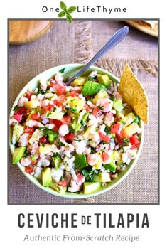 authentic mexican ceviche recipe from scratch recipe fish Authentic Mexican Ceviche From Scratch - One Lifethyme Fish Recipes, Seafood Recipes, Mexican Food Recipes, Cooking Recipes, Healthy Recipes, Mexican Desserts, Cooking Tips, Dinner Recipes, Freezer Recipes