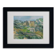 Houses In the Provence 1833 by Paul Cezanne Matted Framed Painting Print