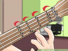 How to Teach Yourself to Play Bass Guitar. If you love the rich sound of a bass guitar and dream of being the beat that keeps a band going, wait no longer, and teach yourself how to play the instrument! The bass guitar, like any new. Bass Guitar Scales, Bass Guitar Notes, Bass Guitar Chords, Learn Bass Guitar, Fender Bass Guitar, Guitar Tips, Music Guitar, Playing Guitar, Acoustic Guitars