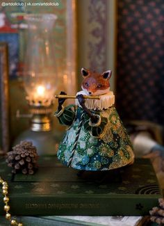 Fox - clay doll by Lia Selina Christmas Tree Toy, Vintage Christmas, Christmas Crafts, Christmas Ornaments, Xmas, Clay Dolls, Doll Toys, Art Dolls, Paperclay
