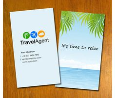 Check Out S7 Travel Agent Business Card By Riming1702 On Creative Market Free Templates