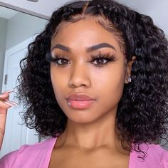 Lace Front Wigs Kinky Curly Human Hair Wigs Pre Plucked With Baby Hair 150 Density Brazilian Remy Hair Short Bob Wigs for Black Women lace front wig) Sisterlocks, Cornrows, Curly Hair Styles, Natural Hair Styles, Natural Hair Bob, Curly Bob Wigs, Auburn, Box Braids Hairstyles, Hairstyle Ideas