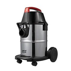 American MICRONIC 21 Litre Stainless Steel Wet & Dry Vacuum Cleaner with Blower, 1600 Watts (Red/Black) for office and Home usage.