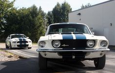 1967 Shelby Ford Mustang GT500 VS 2010 Shelby Ford Mustang GT500..... sooo coool 1967 is my dream car