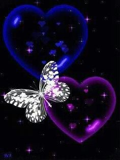 Pupler and blue b and heart Blue Butterfly Wallpaper, Heart Wallpaper, Purple Butterfly, Cute Wallpaper Backgrounds, Butterfly Art, Love Wallpaper, Beautiful Flowers Wallpapers, Pretty Wallpapers, Beautiful Butterflies