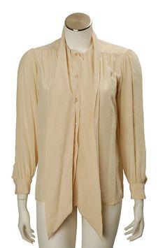 Vintage 1970s Yves Saint Laurent Rive Gauche Silk Blouse :: Quintessentia