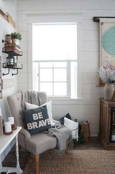 Perfecting the Homefront: Shiplap on a Budget!