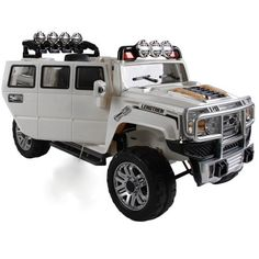 Exclusive Edition 12V Hummer Off-Road Style Ride On Jeep with Remote Control + MP3 + Opening Doors