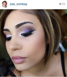 eyeshadow using the urban decay electric palette Eye Makeup Tips, Love Makeup, Beauty Makeup, Hair Makeup, Makeup Ideas, Eyeshadow Ideas, Purple Makeup, Colorful Makeup, Eyeshadow Makeup