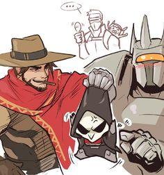Mikisaya的微博_微博. Overwatch Soldier76, Mccree, Reinhardt, Reaper