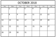 blank october 2018 pocket calendar 2018 calendar pdf blank calendar pocket calendar fillable