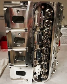Mast Motorsports LS7 305cc heads assembled and shining.