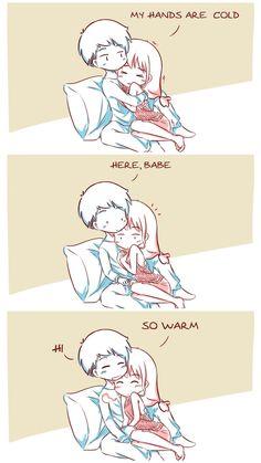 Cute Couple Comics, Couples Comics, Cute Comics, Funny Comics, Sad Anime, Anime Love, Kawaii Anime, Manga Anime, Relationship Comics