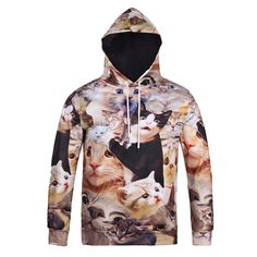 Surprised Cats Collection 3D Printed Hoodie //Price: $37.85 & FREE Shipping //     #yellowmonkeyclothing