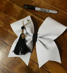 Senior autograph cheer bow by Bellabows76 on Etsy