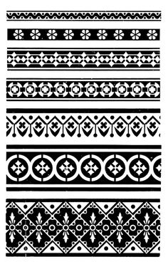 American specimen book of type styles : complete catalogue of printing machinery and printing supplies. Stencil Patterns, Tribal Patterns, Stencil Art, Zentangle Patterns, Textile Patterns, Print Patterns, Tribal Prints, Border Pattern, Border Design