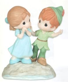 $60.00  Precious Moments I'm Never Lost Without You  Features Peter Pan and Wendy from Peter Pan. Figurine is made of porcelain. The Precious Moments Disney Collection brings your favorite Disney characters to life. Shopping, Gifts, Home Decor. CLICK IMAGE TO BUY NOW