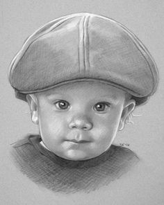 ) pastel, oil, and occasional drawings Cute Boy Drawing, Baby Drawing, Amazing Drawings, Realistic Drawings, Pencil Art Drawings, Art Drawings Sketches, Drawing Sites, Christmas Portraits, Charcoal Drawing