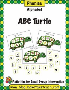 Classroom Freebies: Alphabet Turtle Activity