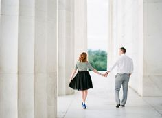 Washington DC Anniversary Session at the Lincoln Memorial | Abby Grace Photography