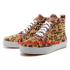 Find the new collection of Christian Louboutin leopard sneakers. Sale the latest Christian Louboutin leopard sneakers online. Louboutin Sneakers, Louboutin Boots, Leopard Sneakers, Fashion Heels, Sneakers Fashion, Paris Fashion, Cheap Christian Louboutin, Red Bottom Shoes, Nike Trainers
