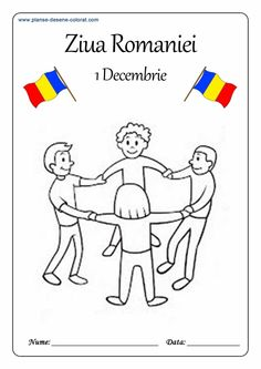 Lumea lui Scolarel...: De colorat-ROMANIA Paper Flowers Craft, Flower Crafts, Phonics Activities, Kindergarten Activities, 1 Decembrie, Learn German, After School, Small Groups, Coloring Pages