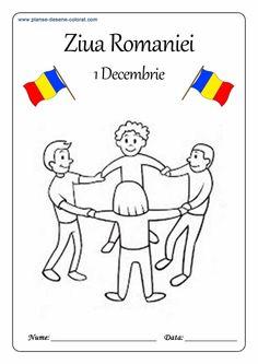 Lumea lui Scolarel...: De colorat-ROMANIA 1 Decembrie, Phonics Activities, Coloring Pages, Kindergarten, Crafts For Kids, Moldova, Dream Catchers, Rum, Diana