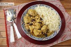 Pollo marroquí con cuscús con Thermomix. Fotografías con el paso a paso del proceso de elaboración. Sugerencia de presentación. Receta de carn...