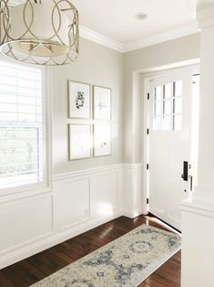 Ben Moore Pale Oak Entryway Paint Colors Hallway Light Neutral