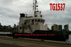 This 3200 HP model bow tug is available for sale. In addition, it is powered with Cummins main engines and has 40 Tons of Bollard Pull. Cummins, Bows, Model, Movie Posters, Arches, Bowties, Scale Model, Film Poster