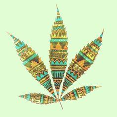 Marijuana art by http://www.behance.net/gallery/Painted-Leaves/5110923