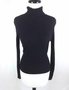 Brunello Cucinelli Sweater Cashmere Turtleneck Black Knit Luxury Womens s  | eBay