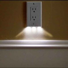 Outlet cover that's also a night light