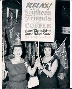 Southerners parade at Democratic National Convention. Aug 1956