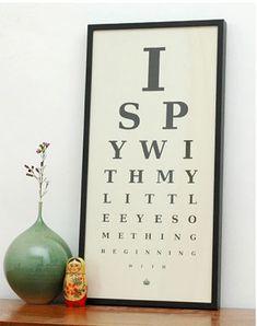vintage eye charts