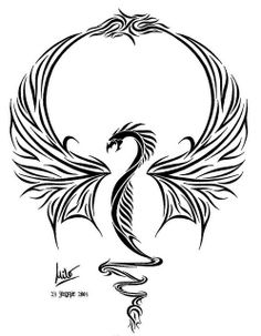 blackwork dragon
