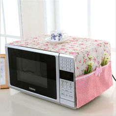 small flower Cotton Dust Cover Microwave Cover Microwave Oven Hood - Microwave Oven - Ideas of Microwave Oven - small flower Cotton Dust Cover Microwave Cover Microwave Oven Hood Microwave Cover With Storage Bag -in Microwave Oven Covers from Home Diy Home Crafts, Sewing Crafts, Diy Home Decor, Sewing Projects, Diy Para A Casa, Kitchen Decor, Kitchen Design, Oven Hood, Microwave Oven