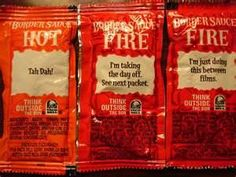 DIY - Taco Bell's Hot taco sauce----- I used to eat these straight out of the pack!!!! hahah!