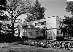 Walter Gropius' own residence in Lincoln, MA.