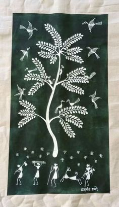 Tribal Pattern Art, Worli Painting, Pottery Designs, Paintings, Drawings, Prints, Paint, Painting Art, Sketches