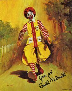 Scary Clown Makeup, Creepy Clown, Mcdonalds, Ronald Mcdonald Costume, Jake And Dinos Chapman, Famous Clowns, Clown Photos, Clown Paintings, Vintage Halloween Photos