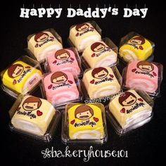 Happy Daddy's Day Roll Cake #Bakeryhouse Bangkok