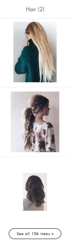"""""""Hair (2)"""" by mariangela06 ❤ liked on Polyvore featuring blond, hair, hairstyles, beauty products, haircare, hair styling tools, hair styles, people, pictures and beauty"""
