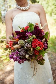 Dark + Romantic wedding flowers- deep red and purple assorted bridal bouquet and Reception, Styles, Bouquet, Wedding Colors, Romantic Wedding Flowers, Purple Wedding Flowers, Fall Wedding Bouquets, Bride Bouquets, Autumn Wedding, Wedding Colors, Fall Flowers, Red Wedding, Purple Bouquets