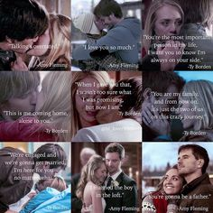 Amy and Ty best quotes throughout the years, i love their lovestory Amy And Ty Heartland, Heartland Seasons, Heartland Quotes, Heartland Ranch, Heartland Tv Show, Tv Show Quotes, Movie Quotes, Best Tv Shows, Best Shows Ever