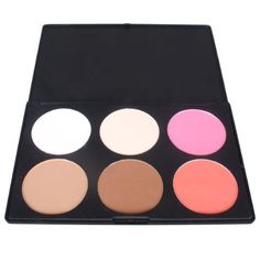 6 Color Contour Face Powder Makeup Blusher Palette by Donner. $11.69. Perfect for Professional Salon, Wedding, Parites & Home use.. 100% brand new, high quality ingredients.. Smart matt black plastic palette.. Combines 6 blushers in one palette for contouring, shading, blush and concealing.. Ingredients:Talcum Powder, Kaolin, Mica Powder, Magnesium Stearate, 7.Titanium White Powder,Colorant and Pearl Lustre Pigment.. Specifications?  Colors:6 Diameter of each color: 6.2cm. ...