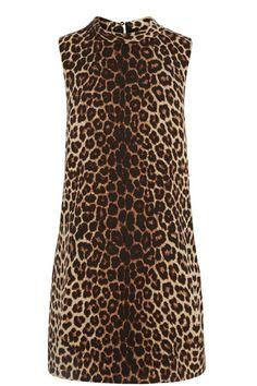Animal Roll Neck Shift Dress