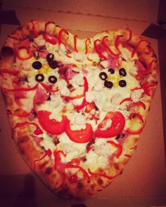 #pizza #love #yummy #delicious #salami #lovely #heart